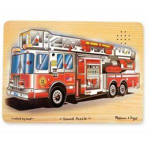 MELISSA & DOUG Fire Truck Wooded Peg Puzzle
